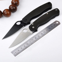 High Quality Folding Knife Hunting Camping Knives 7CR13MOV Blade Carbon Fiber Handle Tactical Knife Outdoors Tool