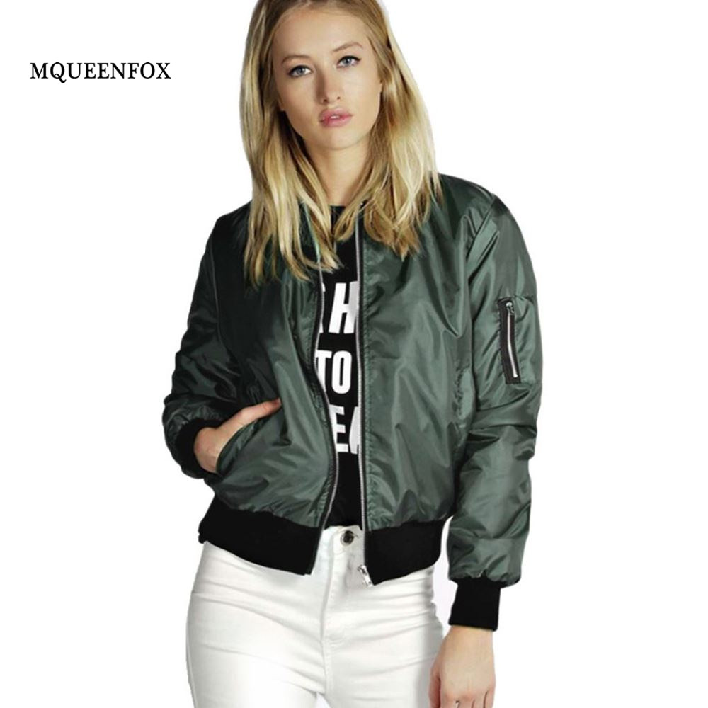 Spring Women Basic Bomber Jacket 2019 Casual Loose Women Long Sleeve Coat Oversize Jacket Women Zipper Slim Outerwear