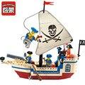 Enlighten serie pirata nave intelectual bloques de construcción de ladrillos de construcción, bloques establece niños juguetes compatible legoe