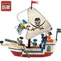 Série pirata navio enlighten construção tijolos blocos conjuntos de blocos de construção intelectual brinquedos para crianças compatível legoe