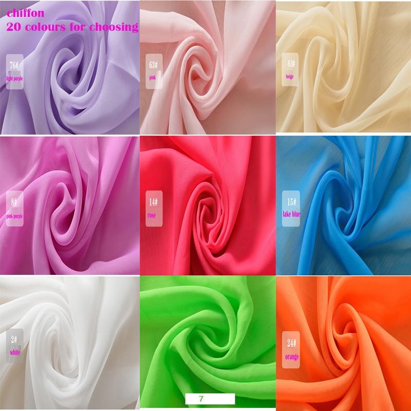 واسعة 1 5 2m Lot قماش الشيفون 100 البوليستر قماش الشيفون الأبيض ل Diy الصيف الحرير اللباس تنورة الستار 20 الألوان الشيفون