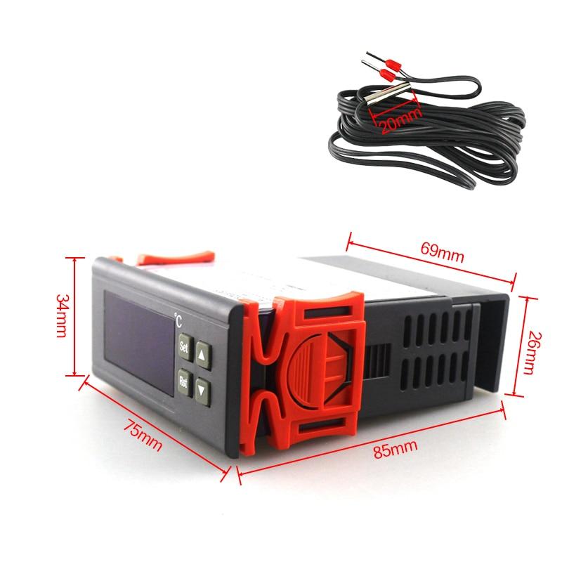 RC-113M AC 220V 2A PID skaitmeninis termostato reguliatorius - Matavimo prietaisai - Nuotrauka 5