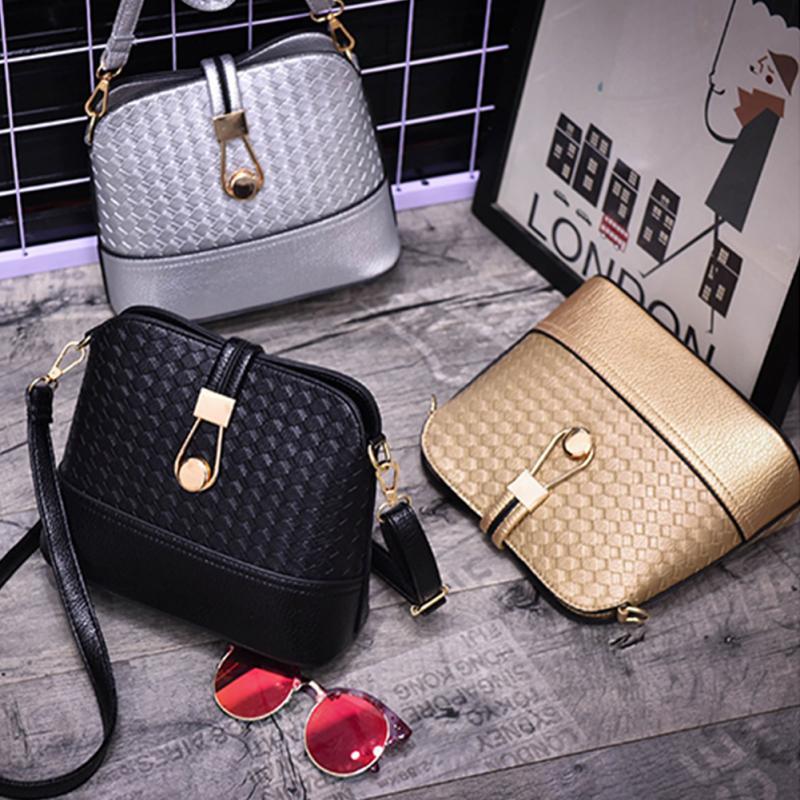 Women Ladies Handbag Fashion Braided Shoulder Bag Hobo Bag Crossbody Bag Shell Bag For Female Gold Silver Black High Quality Hot