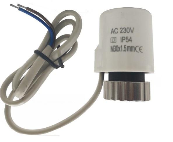 230v Normally Open Electric Thermal Actuator For Manifold Underfloor Heating Valve Calefaccion Suelo Radiante Actuador