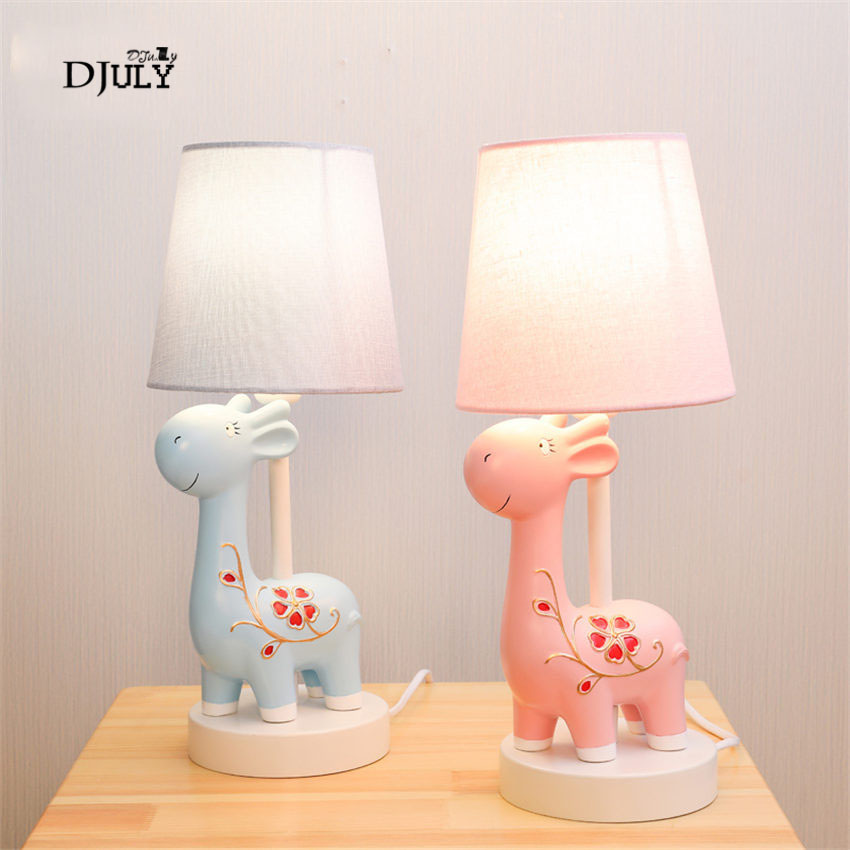 cartoon Sika deer Childrens room decoration table lamp creative home deco desk llight for study boys girls bedroom bedside lampcartoon Sika deer Childrens room decoration table lamp creative home deco desk llight for study boys girls bedroom bedside lamp