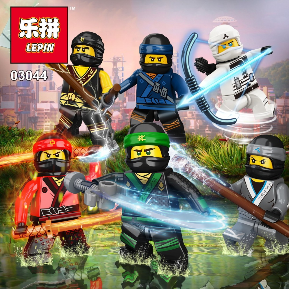 lepin 03044 Ninjagoes figures Building Block Toys Ninja Kai Jay Zane Cole Lloyd Carmadon Bricks toys for children lepin 06037 compatible lepin ninjagoes minifigures the lighthouse siege 70594 building bricks ninja figure toys for children