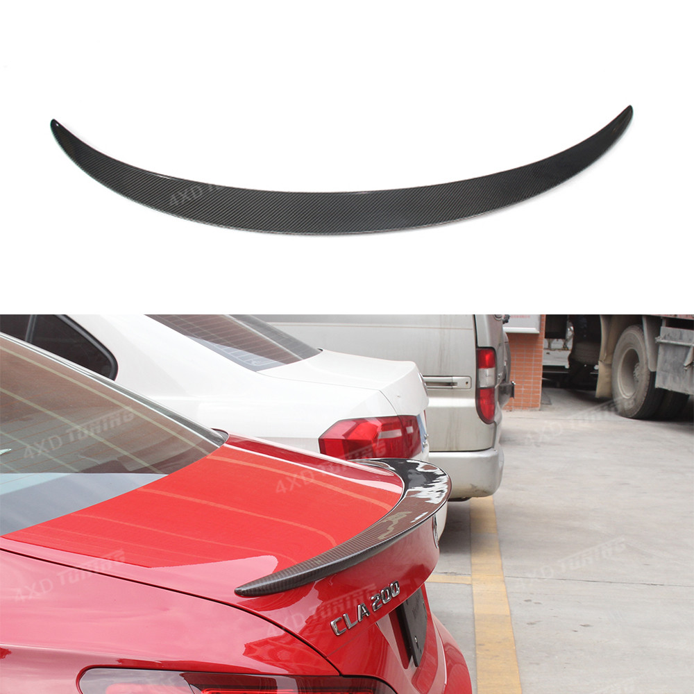 For Mercedes W117 CLA45 Carbon Spoiler AMG Style Carbon Fiber Rear Trunk Wing Spoiler CLA Class W117 Spoiler car styling 2013-UP mercedes cla w117 carbon fiber fd style cf rear trunk spoiler wing for cla 180 cla200 cla250 2013 2014 2015 2016 page 5