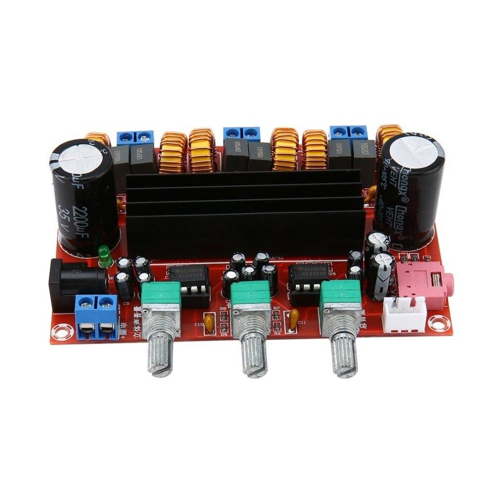 Neue Version High power Verstärker Dual Chip TPA3116D2 50Wx2 + 100 W 2,1 Pfad Digitale Subwoofer Power Verstärker Bord