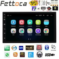 FETTOCA 7'' Android Car Radio Stereo GPS Navigation Bluetooth USB SD 2 Din Touch Car Multimedia Player Audio Player Autoradio