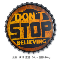 Tin SignDON'T STOP Vintage Metal Painting Beer cap Bar pub Hanging Ornaments Wallpaper Decor Retro Mural Poster Craft 50X50 CM