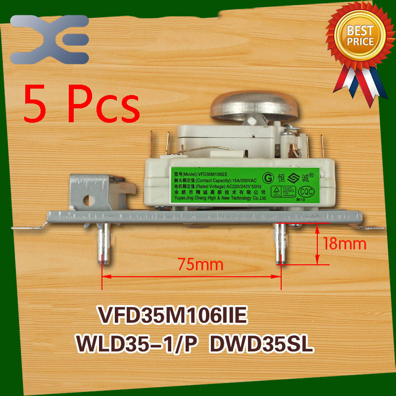 5Pcs Microwave Spare Parts Timer Oven VFD35M106IIE WLD35-1/P DWD35SL Microwave Oven Timer
