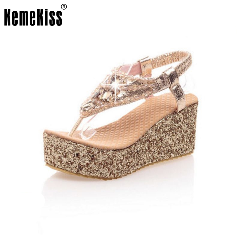 все цены на size 31-47 women quality high heel sandals fashion lady dress sexy female platform rhineston shoes slippers P13671 hot sale онлайн