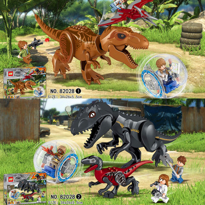 Building Blocks 82028 Jurassic World Indominus Rex Tyrannosaurs T-Rex Building Blocks toys Dinosaur Bricks Children Gift Toys ye 77011 super heroes avengers assemble jurassic dinosaur world figures tyrannosaurs rex building blocks diy toys kids gifts page 4