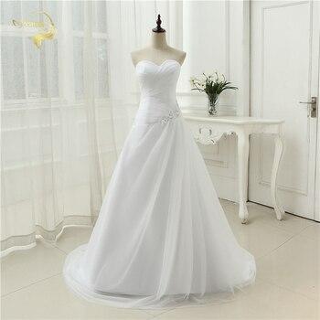 New Arrival 2018 Wedding Dresses Sweetheart A Line Rhinestone Beading Bridal Gown Vestidos de Novia Plus Size Lace Up 5981982