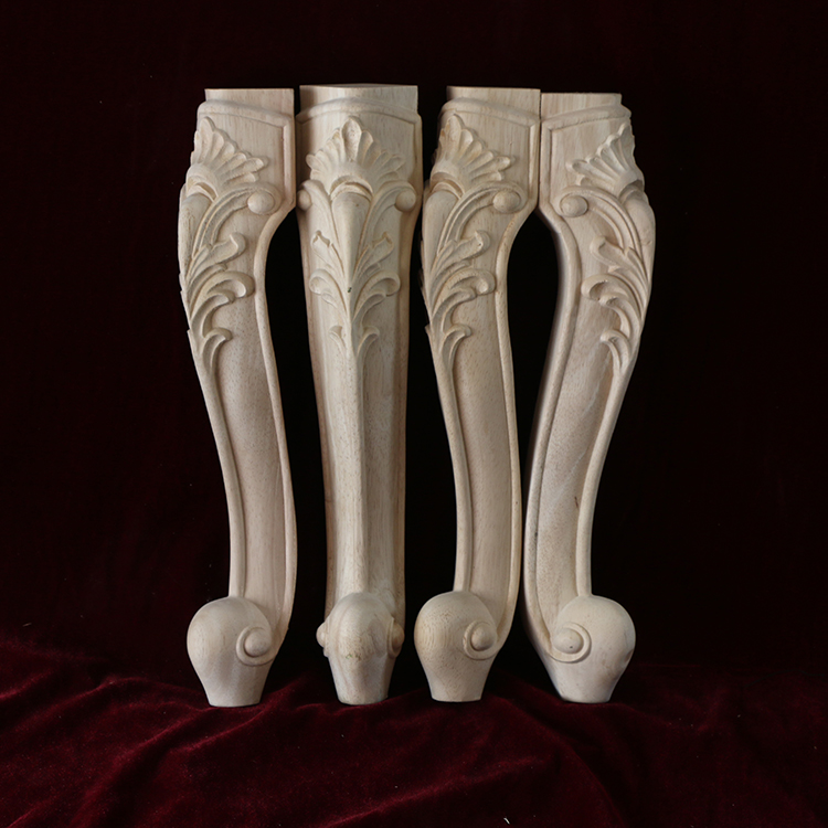 2PCS/LOT H25*7*7cm Premium European Carved Furniture Stool Leg Legs
