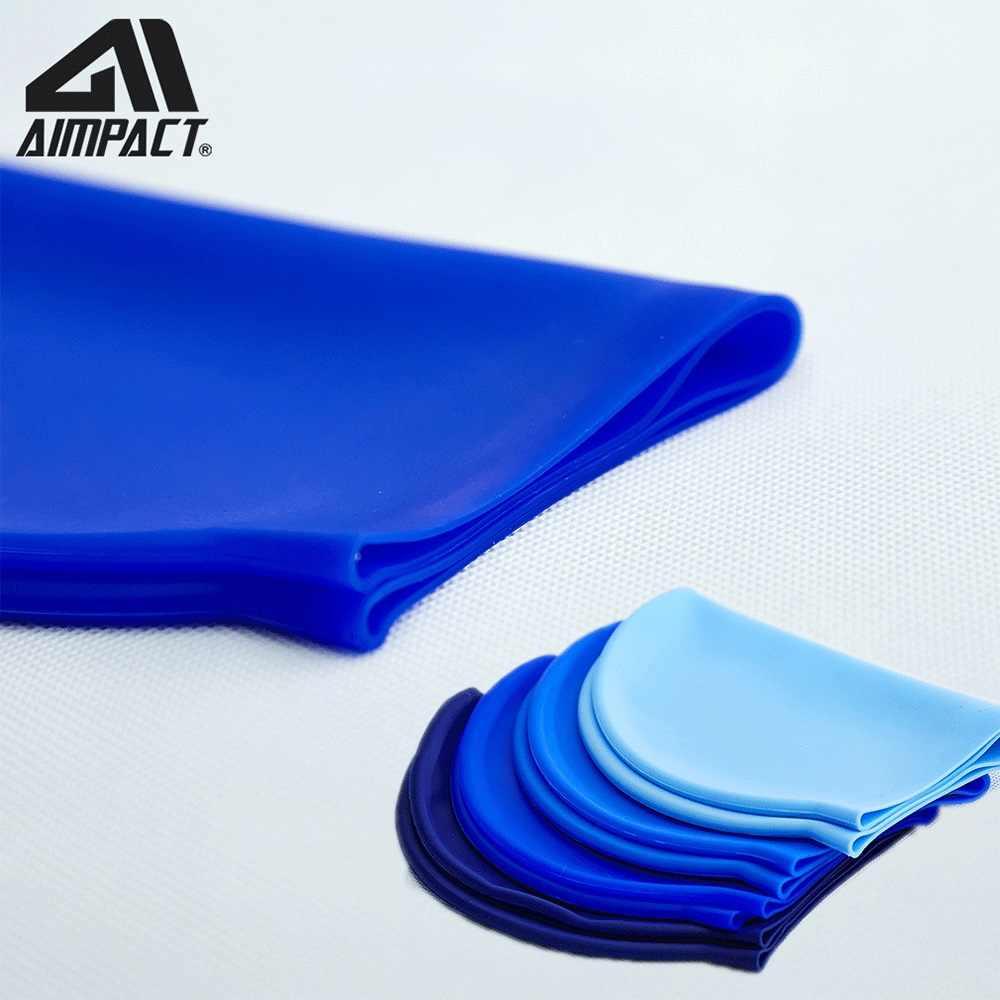 Impermeabile del silicone 3D Capelli Lunghi dimensioni Elastico Cappellini per Donne Degli Uomini di Trasporto di Sport Cappello di Nuotata Proteggere Le Orecchie Piscina Per Adulti Nuotata cap