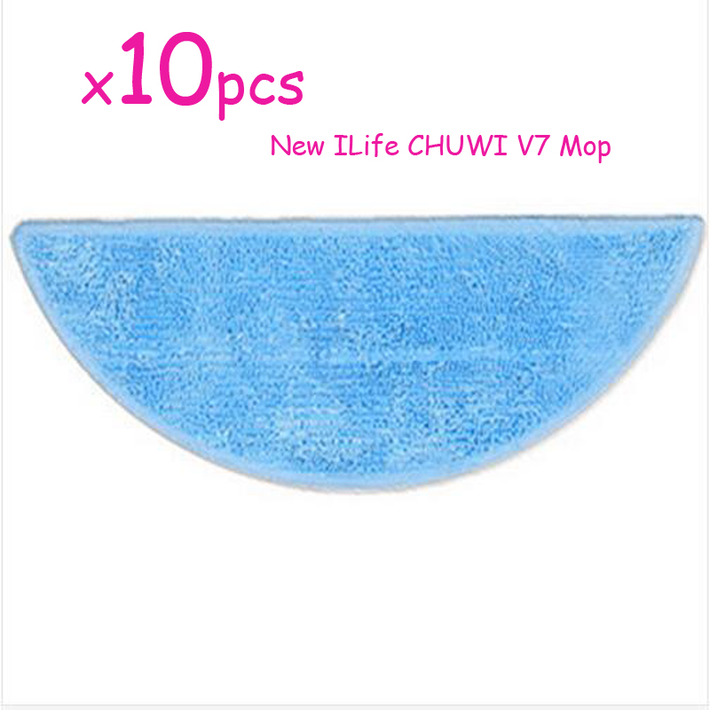 10 pcs/lot Cleaning Mop for ILife v7 CHUWI V7 smart Mop Robotic Vacuum Cleaner household cleaning CleanRobot 5x side brush kit 3x cleaning mop cloth replacement for ilife v7 chuwi v7 robotic vacuum cleaner chuwi ilife v7