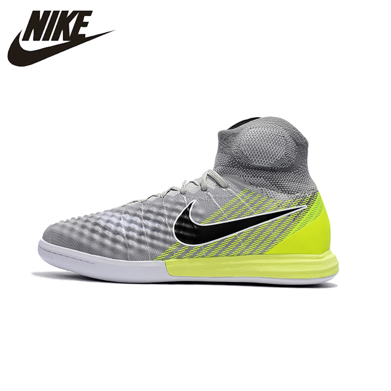 3d3643bc3b16 Nike Magista X Prosimo II IC Men s Football Sneakers Indoor Gray Soccer  Training Sneakers Sports Shoes ...