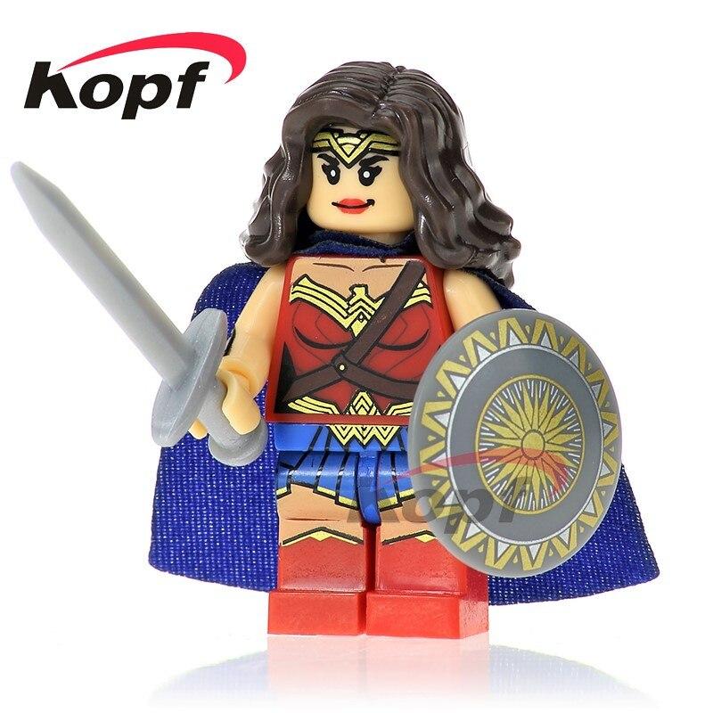 XH 671 здания Конструкторы Супер Герои Wonder Woman meilleur Кадо briques Bebe Jouets кирпичи Best образование для Детский подарок Игрушечные лошадки