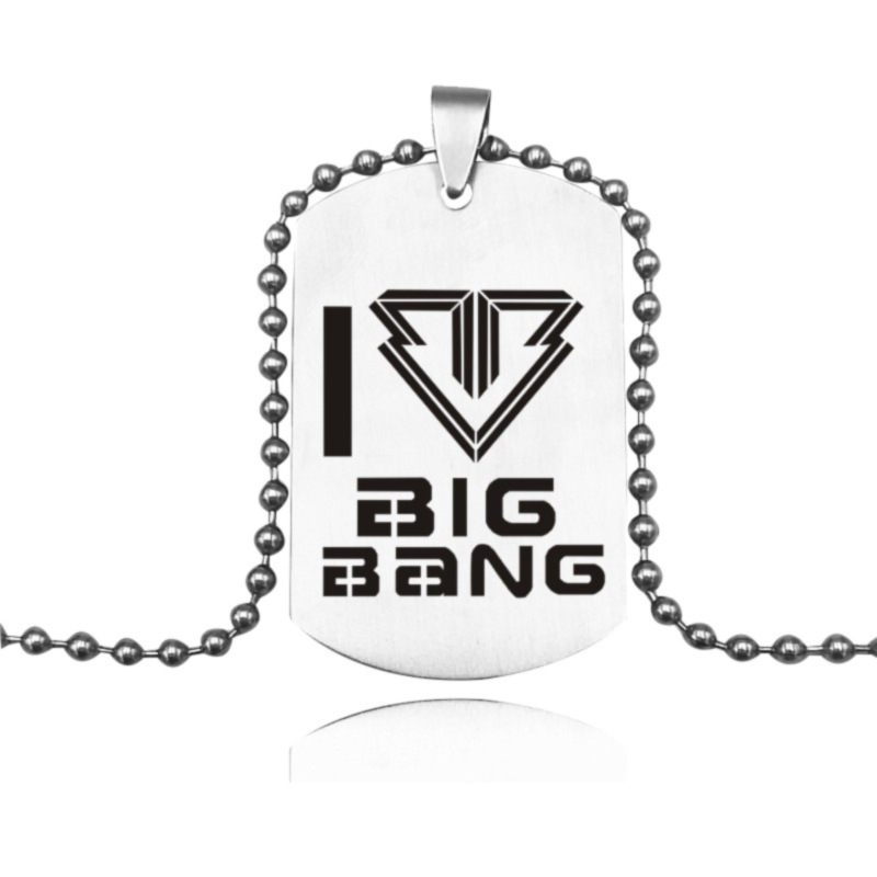 Original Bigbang Kpop English Name Infinity Ring Tail Ring Titanium Steel Rope 8.5 Size Send Leather Boxes K-pop Jewelry Men Young Women Apparel Accessories