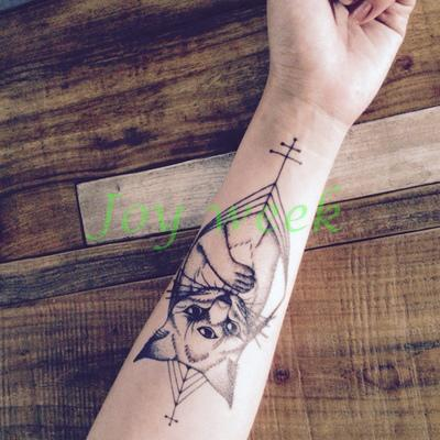 Waterproof Temporary Tattoo Sticker large size three eyes cat totem tatto stickers flash tatoo fake tattoos for men women 3