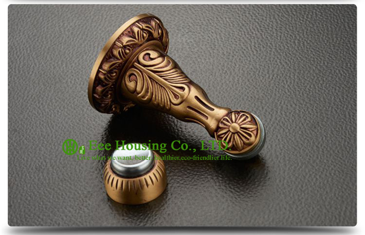 Free Shipping, Door Stopper / Door Holders, High suction & Wall mounted brass door stoppers the bathroom door stopper bronze magnetic absorber wall suction hit more than five home hardware