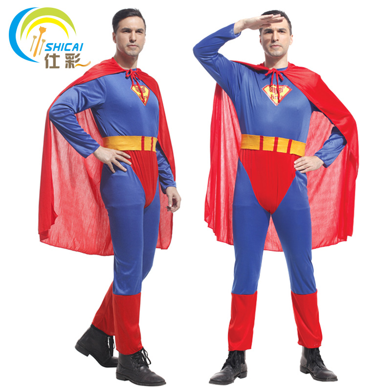 Superman Costume Suit Adult For Parties Cosplay Halloween