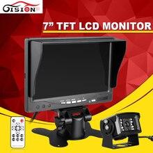 """Gision 7 """"Carro/Ônibus/Caminhão Retrovisor LCD Monitor de Standalone Sistema Kit com IR de Visão Noturna Revertendo Back up Camera"""