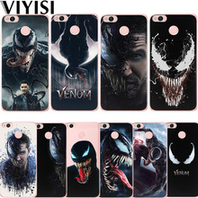 Marvel Venom Phone Case For Xiaomi Redmi Note 5A mi 8 Coque 4X 6 4 4A Mi6 A1 5X Fundas Etui TPU Solicone Back Carcasas Cover flower luxury for xiaomi redmi mi 8 6 cc9 a2 lite 5x 6x a1 6a 4x 4a 5 9 plus note 4 5a prime pro cover case coque etui funda