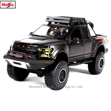 Maisto 1:24 2017 Ford F150 pickup raptor alloy super toy car model For with Steering wheel control front wheel steering toy цена 2017
