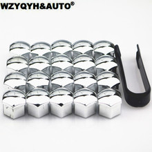 20Pcs Car Wheel Nut Caps Auto Hub Screw Cover Exterior 17mm Bolt Rims Decoration Special Socket Protection Dust Proof
