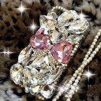 Arc téléphone cae De Luxe Bling Diamant Gem Fleur En Cristal Dur Case Couverture pour iphone 7 7 Plus 6 6 S 6 Plus 6 S Plus 5 5S SE 5G 5C 4S