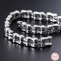Men 925 sterling silver bracelet Brand new Thai silver bracelet 925 sterling silver vintage chain and link Charm bracelet 2018