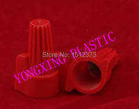 50 Piece Nylon Wire Connector P13 Close End Connector Terminal Block 18 12 AWG Red Color