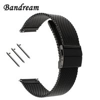 20mm 22mm New Milanese Watchband For Amazfit Xiaomi Huami Bip Bit Pace Lite Youth Quick Release