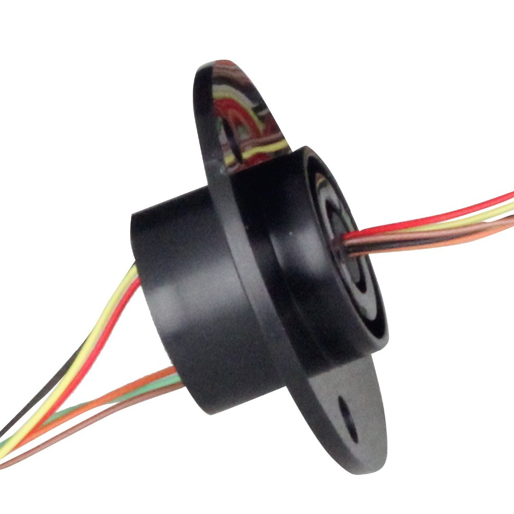 FREE Ship 22M 300RPM 6 Circuits 2A Capsule Slip Ring 6 Conductors rotary electrical collector  electrical interfaces
