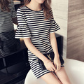Black and White stripes Sweater dress for women long 2017 new office elegant sexy dress women knitted dress wool Lady Bodycon