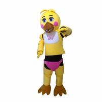 Заказ CosplayDiy унисекс талисмана Five nights at Freddy's игрушка Чика Желтый косплей костюм талисмана L0516