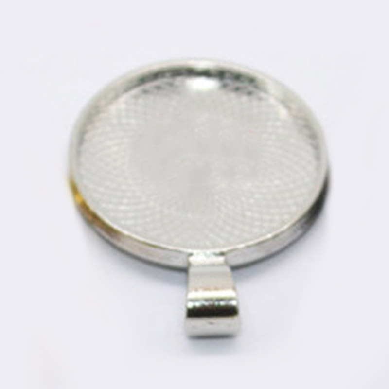 25mm 50PCS Round Glass Dome Cabochons Clear Magnifying Flat Back Magnify Base