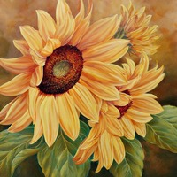 Diamond Painting Flowers Sunflower DIY 5D Completed Cross Stitch Kits Paintings Cross Stitch Embroidery Needlework Sets