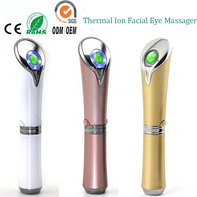Sonic Vibration Infrared Warming Eye Relaxation Ionic Nutrient Import Wrinkle Dard Circle Eraser Skin Lift Jade Massager Pen фен elchim 3900 healthy ionic red 03073 07