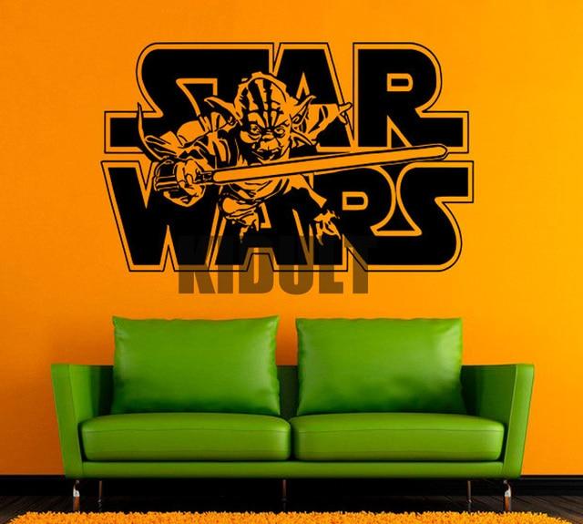 Yoda star wars muurstickers stickers creative home interieur ...