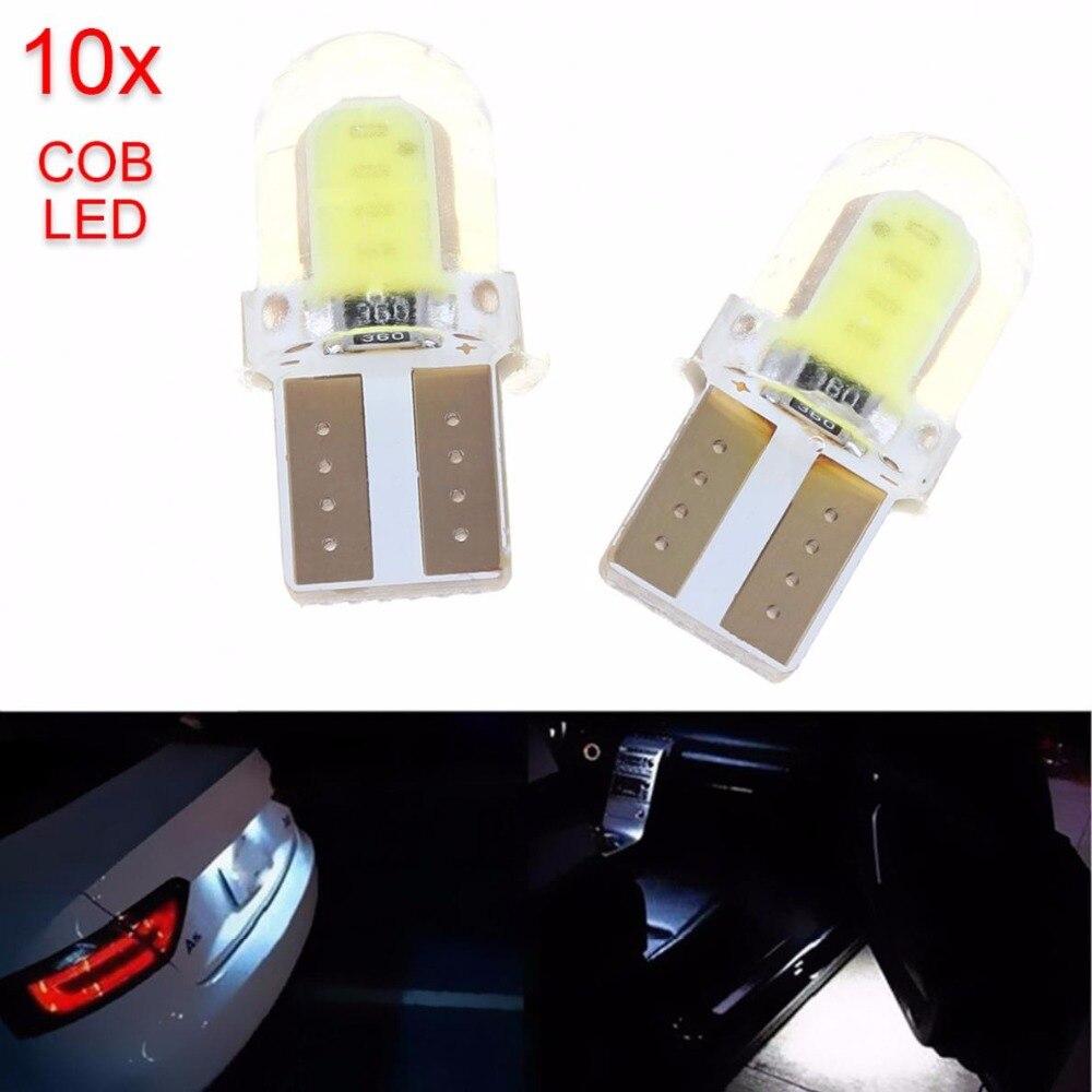 Низкое энергопотребление 10шт T10 W5W и удара 8-SMD светодиодные canbus для кремнезема яркий Белый лицензии автомобиля свет лампы 194 168