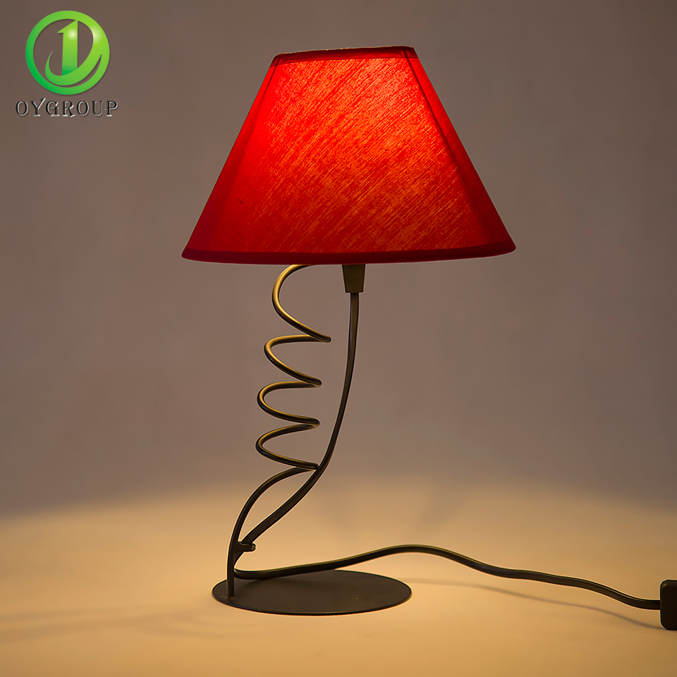 popular red table lampsbuy cheap red table lamps lots from china  - creative decor red led table lamp helical mount lightings black iron basedesk lamps for bedroom