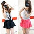 Горячие женщин летом мини юбка, 2015 новый прибытие женщины шифон pantskirt, Мода повелительницы короткие юбки бесплатная доставка JN027