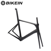 BIKEIN T800 Full UD Carbon Road Bicycle Frame Fork Matte Black BB92 Cycling Road Bike Parts 49/52/54/56/58cm Ultralight 1200g