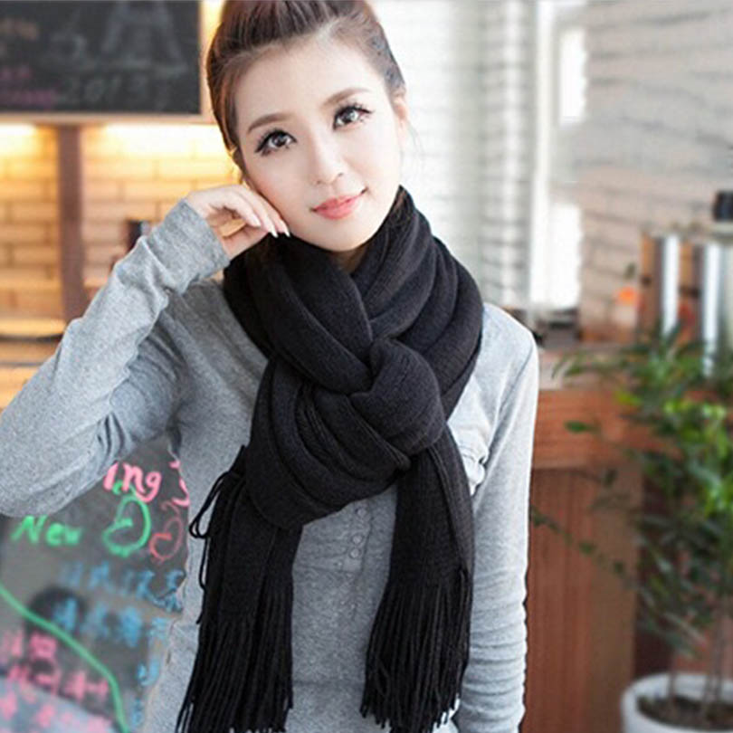 LIC Luxury Brand scarves for women Pashmina Echarp Cashmere Foulard Scarf Wrap Shawl Winter Scarf Women's Scarves Long Tassel