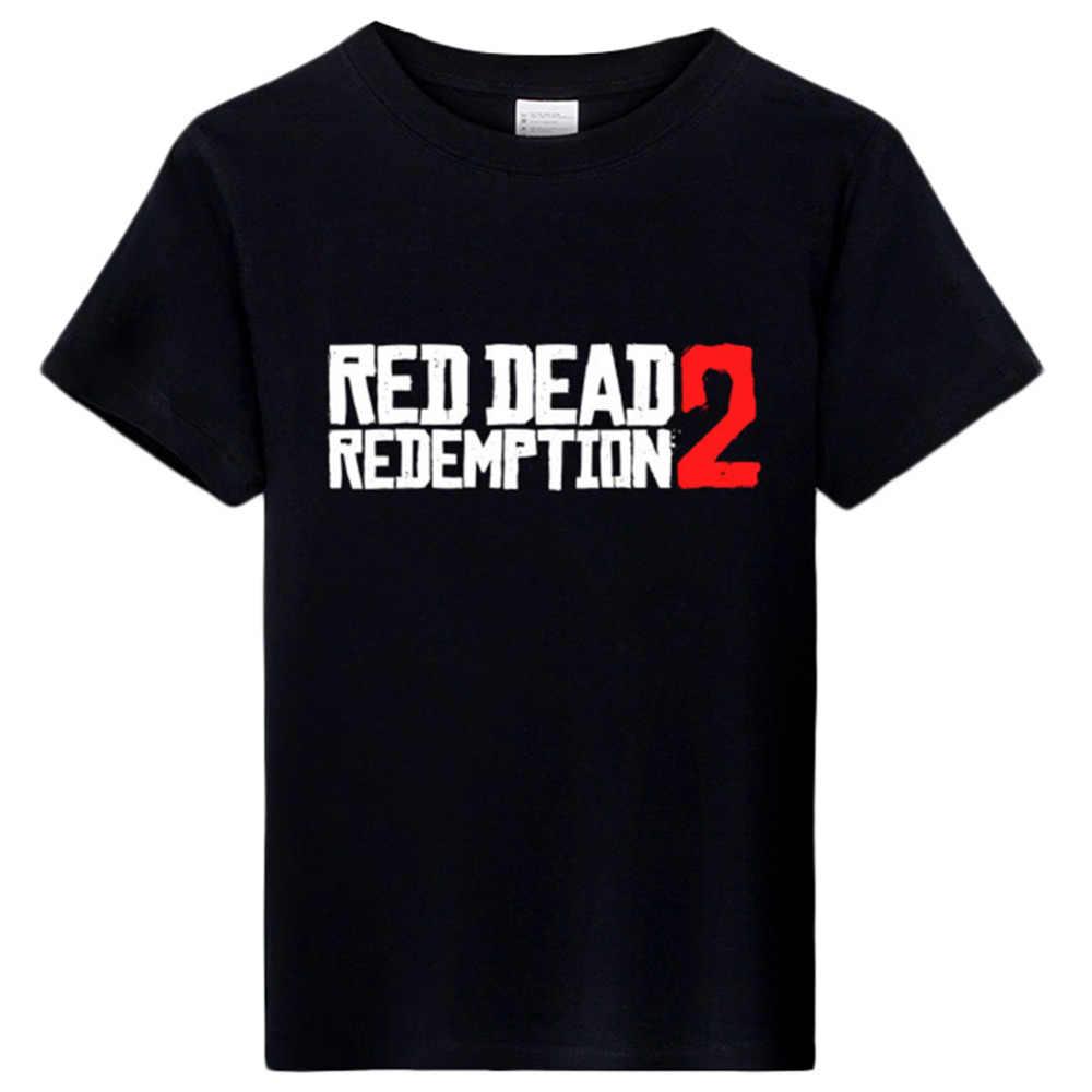コスプレ赤デッド償還 2 Tシャツメンズゲームトップ夏黒、白半袖 tシャツゲームファン tシャツ tシャツ