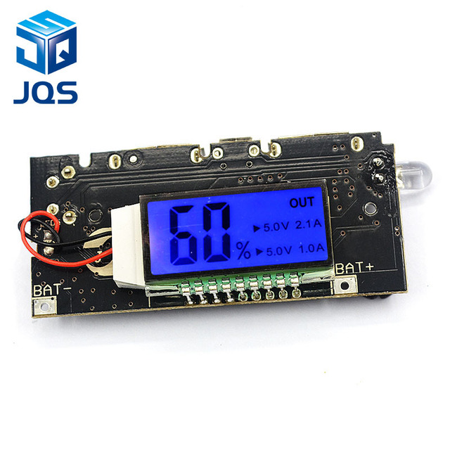 Bảo Vệ tự động! 2 CỔNG USB 5V 1A 2.1A Điện Di Động Ngân Hàng 18650 Pin Lithium Sạc Ban MÀN HÌNH LCD Kỹ Thuật Số Sạc Mô Đun