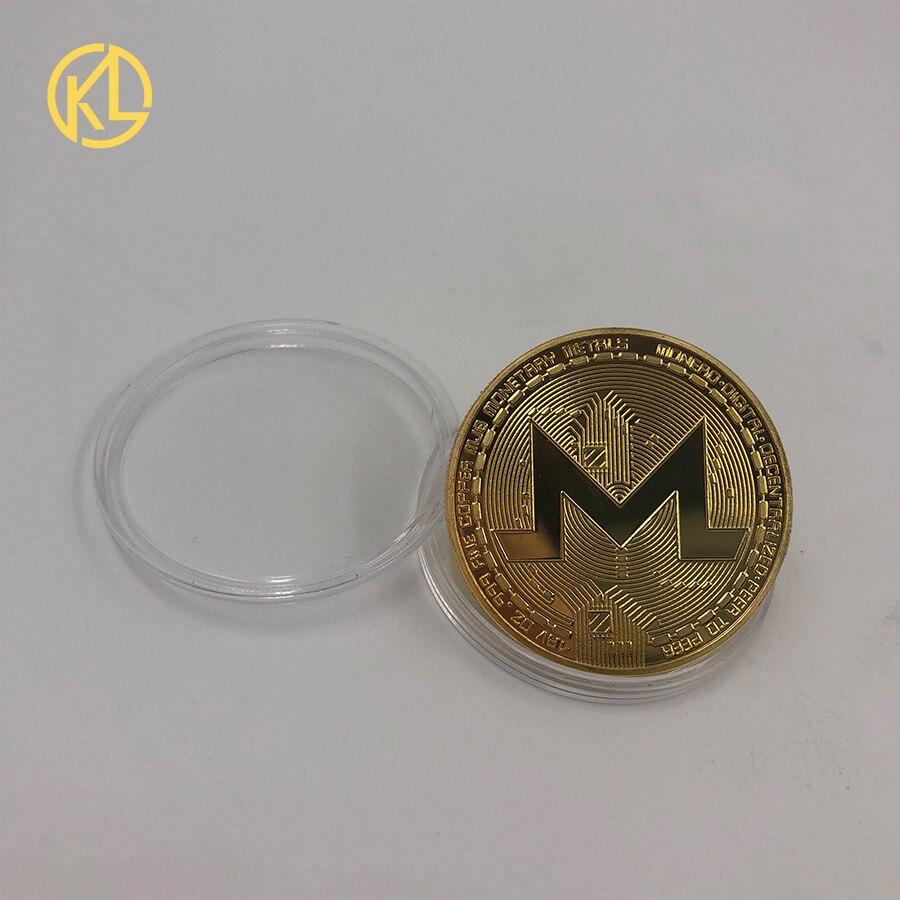 Прямая поставка позолоченная монетница Monero коллекционный подарок Casascius Бит монета Биткоин художественная коллекция физический Золотой памятные монеты - Цвет: CO-014-1